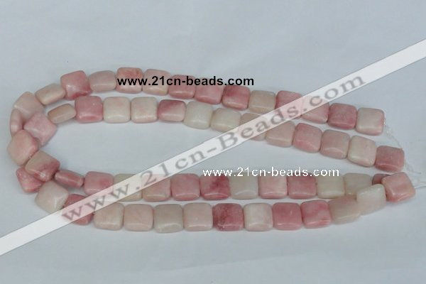 COP162 15.5 inches 14*14mm square pink opal gemstone beads wholesale