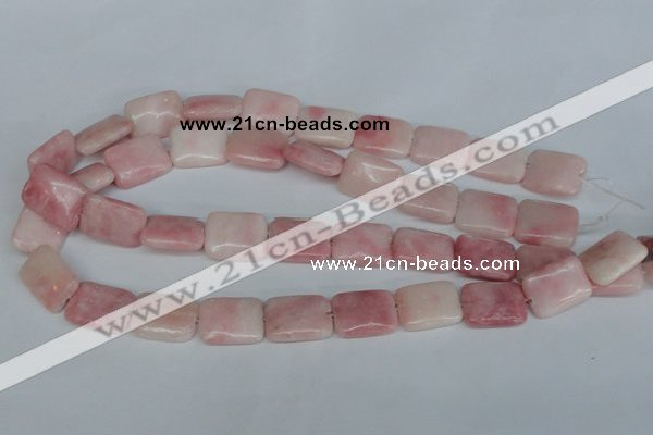 COP163 15.5 inches 15*20mm rectangle pink opal gemstone beads