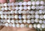 COP1667 15.5 inches 8mm faceted round white opal beads