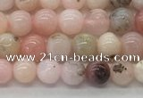 COP1701 15.5 inches 4mm round natural pink opal gemstone beads