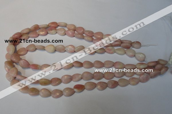 COP171 15.5 inches 10*14mm flat teardrop pink opal gemstone beads
