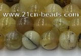 COP1735 15.5 inches 6mm round yellow opal beads wholesale