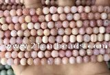 COP1748 15.5 inches 6mm round natural pink opal beads wholesale