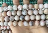 COP1751 15.5 inches 12mm round natural pink opal beads wholesale