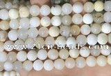 COP1755 15.5 inches 10mm round natural white opal gemstone beads
