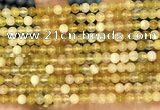 COP1758 15.5 inches 4mm round yellow opal beads wholesale