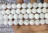 COP1773 15.5 inches 10mm round white opal gemstone beads