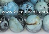 COP1793 15.5 inches 12mm round blue opal gemstone beads
