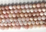COP1797 15.5 inches 8mm round pink opal gemstone beads