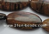 COP218 15.5 inches 20*40mm oval natural brown opal gemstone beads