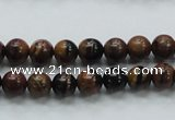COP220 15.5 inches 8mm round natural brown opal gemstone beads