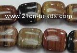 COP246 15.5 inches 18*18mm square natural brown opal gemstone beads