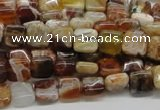 COP303 15.5 inches 8*8mm square brandy opal gemstone beads wholesale