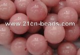 COP406 15.5 inches 14mm round Chinese pink opal gemstone beads