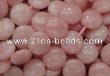 COP414 15.5 inches 12mm flat round Chinese pink opal gemstone beads