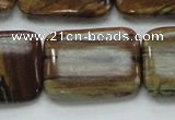 COP434 15.5 inches 22*30mm rectangle natural brown opal gemstone beads