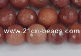 COP444 15.5 inches 10mm faceted round African blood jasper beads
