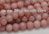 COP52 15.5 inches 7mm round natural pink opal gemstone beads
