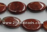 COP523 15.5 inches 18*25mm oval red opal gemstone beads wholesale