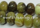 COP552 15.5 inches 15*20mm rondelle yellow & green natural opal beads