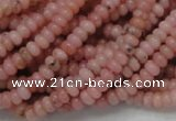 COP56 15.5 inches 2.5*4mm rondelle natural pink opal gemstone beads