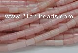 COP58 15.5 inches 4*7mm column natural pink opal gemstone beads