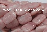 COP69 15.5 inches 10*14mm rectangle natural pink opal gemstone beads