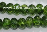 COQ102 15.5 inches 10*14mm faceted rondelle dyed olive quartz beads