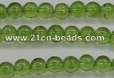 COQ202 15.5 inches 4mm - 5mm round natural olive quartz beads