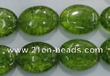 COQ37 15.5 inches 15*20mm oval dyed olive quartz beads wholesale