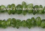 COQ64 15.5 inches 8*12mm natural olive quartz chips beads wholesale