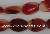 COV129 15.5 inches 13*18mm oval red agate beads wholesale
