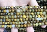 CPB1050 15.5 inches 4mm round golden pietersite beads wholesale