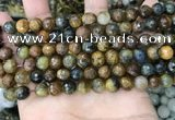 CPB1065 15.5 inches 4mm faceted round natural pietersite beads
