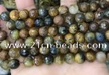 CPB1068 15.5 inches 10mm faceted round natural pietersite beads