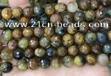 CPB1069 15.5 inches 12mm faceted round natural pietersite beads