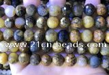CPB1084 15.5 inches 12mm faceted round pietersite gemstone beads