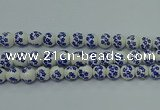 CPB502 15.5 inches 8mm round Painted porcelain beads