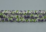 CPB625 15.5 inches 14mm round Painted porcelain beads