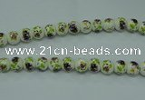 CPB661 15.5 inches 6mm round Painted porcelain beads