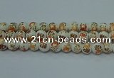 CPB675 15.5 inches 14mm round Painted porcelain beads