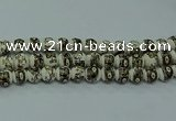 CPB712 15.5 inches 8mm round Painted porcelain beads