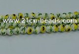 CPB733 15.5 inches 10mm round Painted porcelain beads