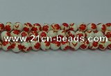 CPB762 15.5 inches 8mm round Painted porcelain beads