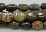 CPJ02 15.5 inches 10*14mm rice picasso jasper beads wholesale