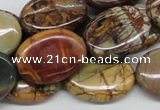 CPJ04 15.5 inches 18*25mm oval picasso jasper beads wholesale