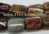 CPJ10 15.5 inches 13*18mm rectangle picasso jasper beads wholesale