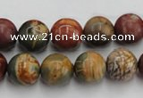 CPJ104 15.5 inches 12mm round picasso jasper gemstone beads wholesale