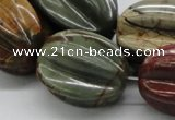 CPJ14 15.5 inches multi size starfruit shaped picasso jasper beads wholesal