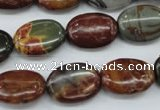 CPJ166 15.5 inches 13*18mm oval picasso jasper gemstone beads